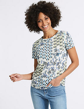 Geometrical Print Short Sleeve T-Shirt