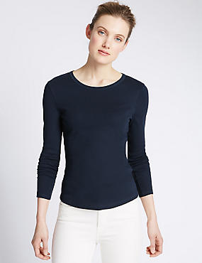 Pure Cotton Long Sleeve Jersey Top