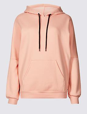 Cotton Rich Long Sleeve Sweatshirt , BLUSH, catlanding