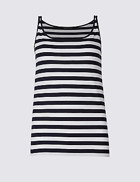 Pure Supima Cotton Striped Vest Top