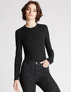 Funnel Neck Bodysuit