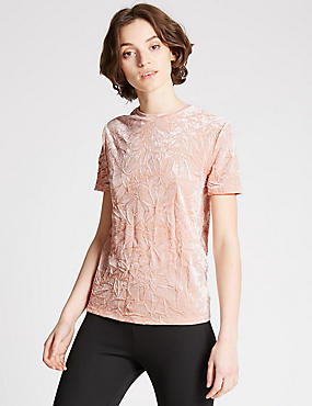 Velvet Short Sleeve T-Shirt