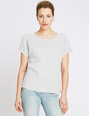 Pure Linen Shell Top