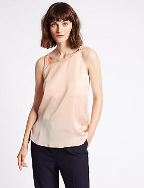 Satin Scoop Neck Vest Top