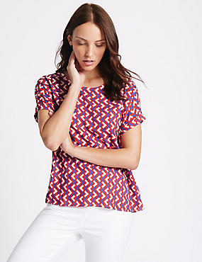 Geometric Print Short Sleeve T-Shirt