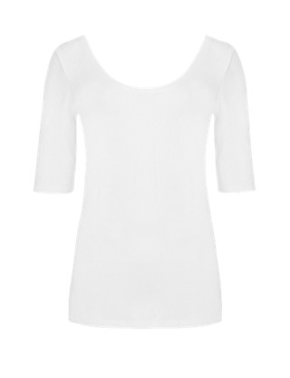 Scoop Neck T-Shirt Clothing