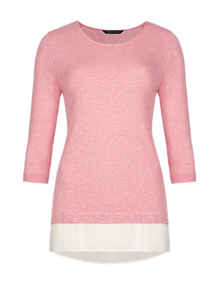 3/4 Sleeve Double Layered Top Clothing
