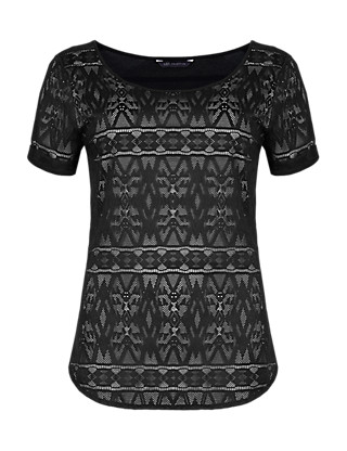 Aztec Lace Top Clothing