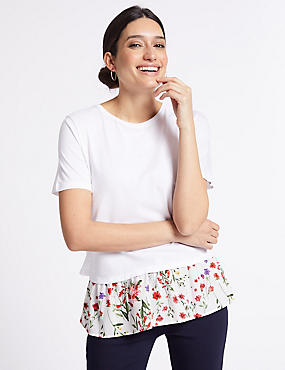 Cotton Rich Printed Short Sleeve T-Shirt