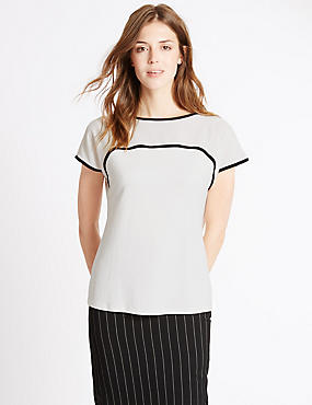 Loose Fit Round Neck Jersey top