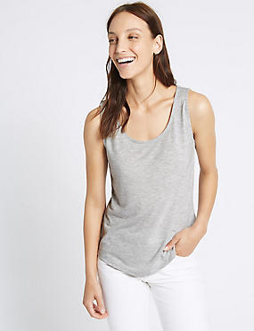 Round Neck Relaxed Vest Top