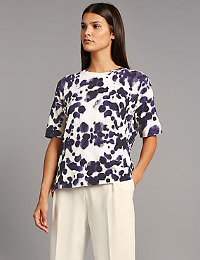 Pure Cotton Animal Print T-Shirt