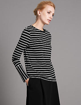 Loose Fit Striped Long Sleeve Top