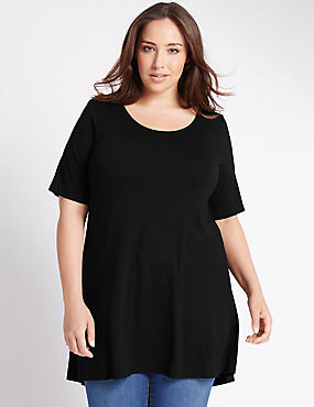 PLUS Round Neck Swing Tunic