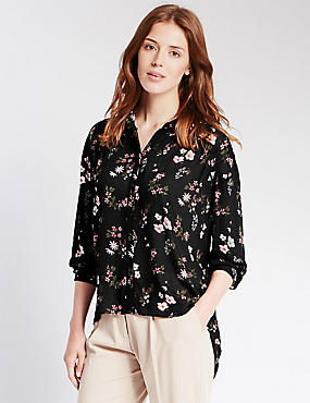 Loose Fit Floral Blouse