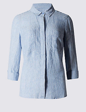 Pure Linen Striped Shirt