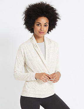 Wrap V-Neck Long Sleeve T-Shirt