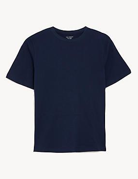 Textured V-Neck Long Sleeve Top, NAVY, catlanding