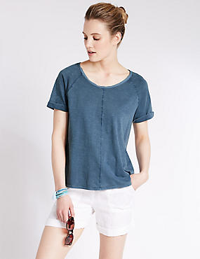 Pure Cotton Garment Dye T-Shirt