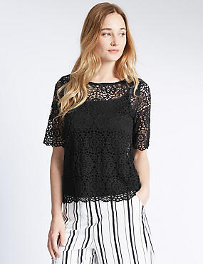Double Layer Lace T-Shirt
