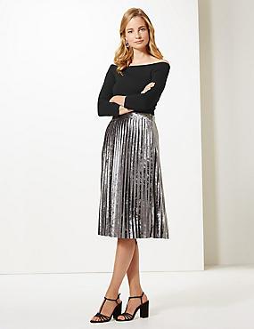 3/4 Sleeve Bardot Top , BLACK, catlanding