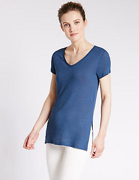 Swing Fit Tunic with Linen