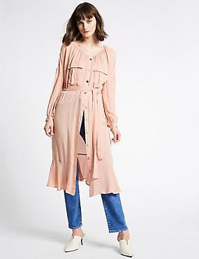 Jacquard Print Swing Midi Dress , BLUSH, catlanding