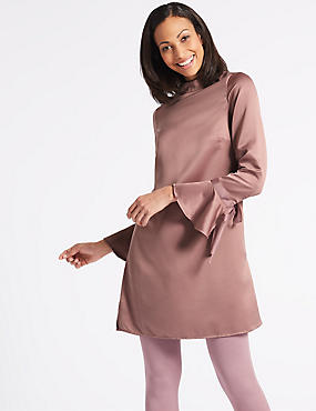 Woven Flared Sleeve Tunic