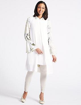 Tunic Midi Dress, WINTER WHITE, catlanding