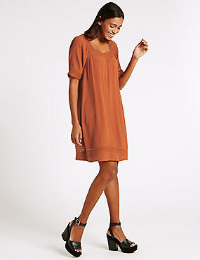 Lace Trim Tunic Dress