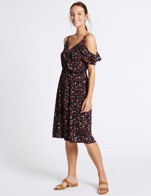 Marks and spencer black shift dress