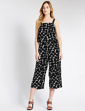 Printed Double Layered Jumpsuit