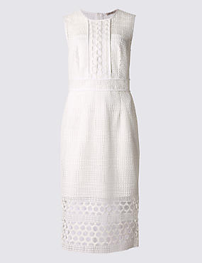 Crochet Panelled Bodycon Dress