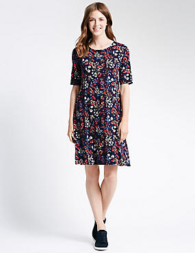 Floral Fit & Flare Swing Dress