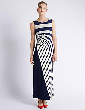 Graded Striped Maxi Dress