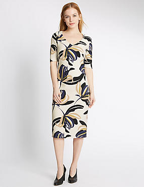 PETITE Floral Print Bodycon Dress