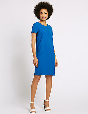 Raglan Short Sleeve Tunic Dress