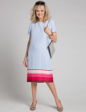 Striped Hem Tunic Dress