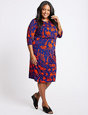 CURVE Floral Print Bodycon Dress