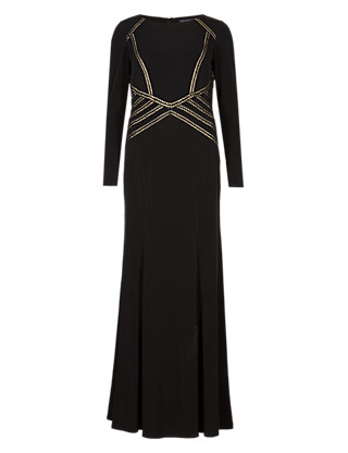 Chain Effect Embellished Maxi Dress ONLINE ONLY Clothing