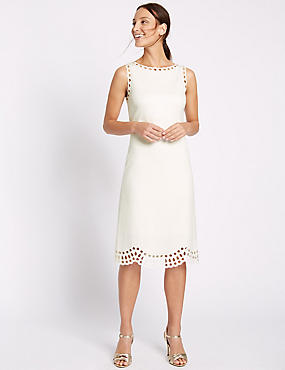 Cutwork Skater Midi Dress