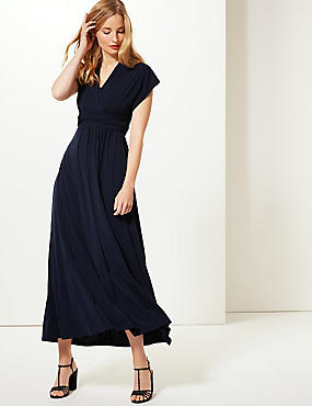 Multiway Strap Maxi Dress, NAVY, catlanding