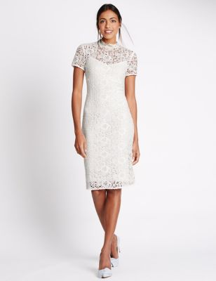 Marks and spencer pink lace dress
