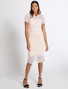 Lace Double Layered Shift Dress