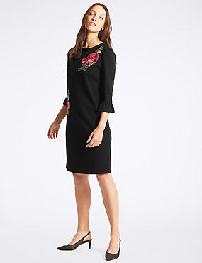Embroidered Applique Tunic Dress