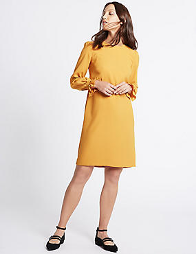 Frill Cuff Tunic Dress