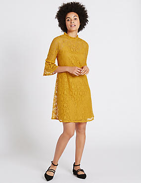 Cotton Rich Floral Lace Swing Dress