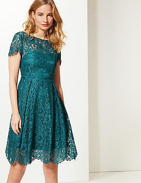 Cotton Rich Lace Short Sleeve Swing Dress