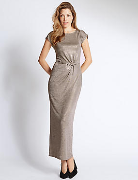 Shimmer Short Sleeve Maxi Dress