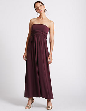 Multiway Strap Maxi Dress, BLACKCURRANT, catlanding